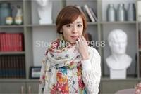 The new Floral Scarf print scarf yarn Paris ladies shawls 180cm*110cm