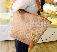 2014 New Fashion European Style Tassel Letter Women's Bags Women Handbag Shoulder Bag Casual Bag for Women Girls Ladies