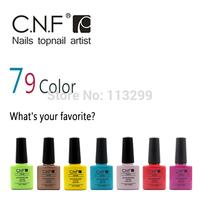 High Quality CNF 6pcs/lot(4colors+1Base +1Top) Soak Off LED UV Gel Polish Nail Art Make Up 7.3ml 79 Colors Choose
