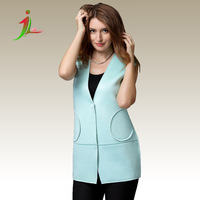 Top quality  Europe and America ladies vest female fashion thickened vest 100% cotton Individuality elegant vest WT0012