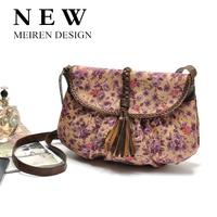2015 New Fashion Flower Print Women Messenger Bags Women Leather Handbags Women Shoulder Bags Designers Vintage Desigual Bag