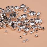 8 different size mix ss12-ss50 claw rhinestones for wedding dress decoration,800pcs/lot,fancy glass gemstone stone accessories