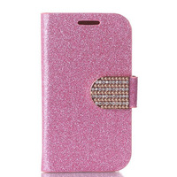 For Samsung Galaxy S5 i9600 Luxury Wallet diamond glitter design Magnetic Holster Flip Leather Case Cover Protect D680