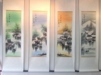 chinese art big huge large scroll painting landscape