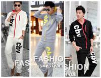 14 new men's sweater supply male Korean version of casual cottonmen's Slim boys track suit sportswear