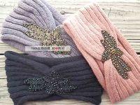 2014 New Knit Handmade Handmade Bead With Stone Headwrap Hair Accessories Headband Hairband Accessory Turban Tiara For Womens