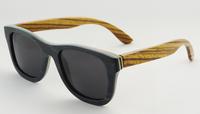 sunglasses men women real nature skateboard wood bamboo sunglasses wayfarer brand designer  outside black glass z68004