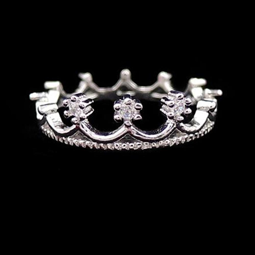 nz290 Free Shipping New Fashion Flash Drill Crown Ring Jewelry Shiny Elegant Beauty(China (Mainland))