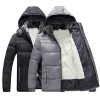 Free shipping new 2015 thick warm winter jacket men overcoat fluff lining down coats parka casual jackets detachable hat  NL127
