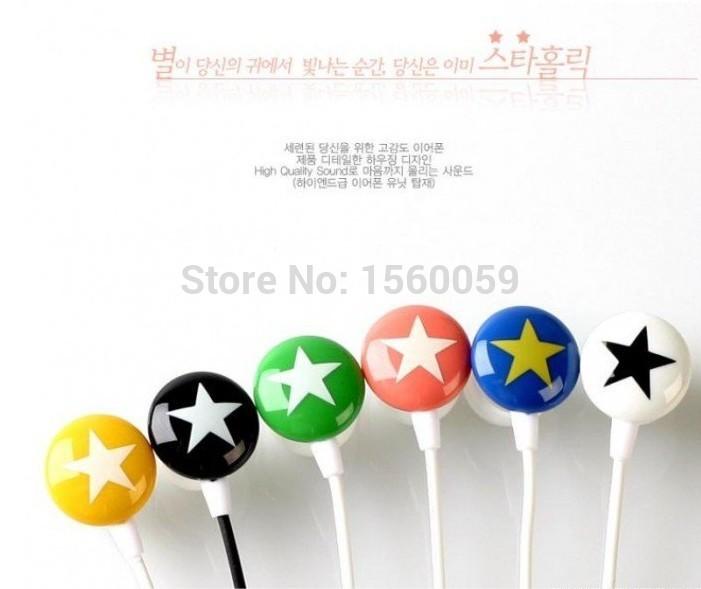 Chocolate Stars Candy Headphone In-ear Earphone for MP3 Players earbud hea