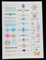 Wholesale fashion tattoo bracelet, new design of many tattoo, flashing tattoo stickers, mixed designs 12pcs a lot  free shipping