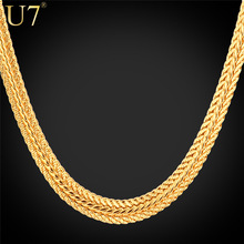 "Gold Necklace With ""18K"" Stamp Free Shipping New Trendy 18K Real Gold Plated 0.6 cm 55 cm Snake Chain Necklaces Men Jewelry N363"