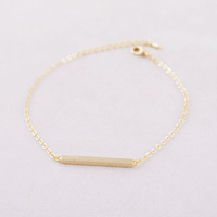 Valentine Day Gift Gold Silver Square Bar Bracelet,geometric rectangle Girl Jewelry