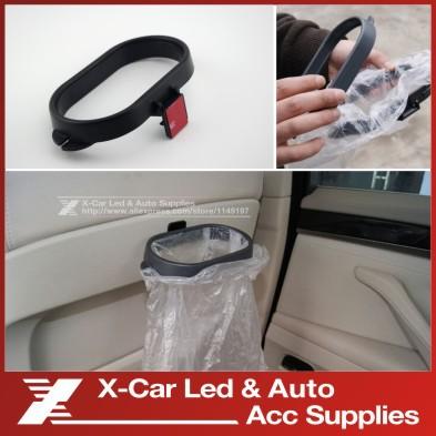 Portable Plastic Car Garbage Trash Bag Frame Holder Easy Dust Car Hanging Folding Car Garbage Bucket Clip Mount(China (Mainland))