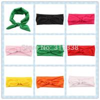 Little Girls Head wraps Baby Headband Jersey Knit Headwraps Infant cotton Headbands 10pcs HB305