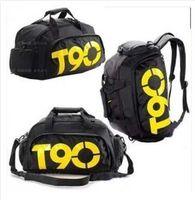 50pcs/lot New Fashion Mulitifunctional Men's Travel Bags Waterproof Outdoor T90 Sport Bags Men's Duffle Gym Bag Casual Backpacks