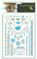 Wholesale gold foil tattoo, assorted tattoo kit, temporary tattoo sticker mixed designs 24pcs/ lot  free shipping