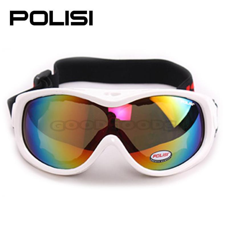 2015 new Free Shipping!  POLISI   P-305-WH Snowboard Motorcycle Ski Goggles Winter Sled Skate Kids Sunglasses Dirt Bike Glasses (China (Mainland))
