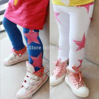 Joy Chang's Wholesale 5pcs/lot Baby Girls star cotton soft Leggings, 3 colors