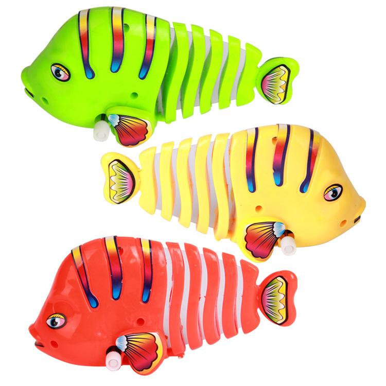 ROBO FUN Robot Fish Wind Up Toys Robofish Swimming Clownfish Turbot Wind Up Pet Toy,not batteries safe,children gift(China (Mainland))