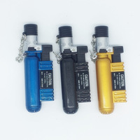 AOMAI AM-136 Oxygen Cylinder Shaped Refillable Butane Creative Jet 1300 C Torch Cigar Cigarette Lighter Color Assorted