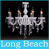 Red crystal chandelier light brief Bed room lights candle lamp fashion crystal chandelier lighting lamps White / Black / red