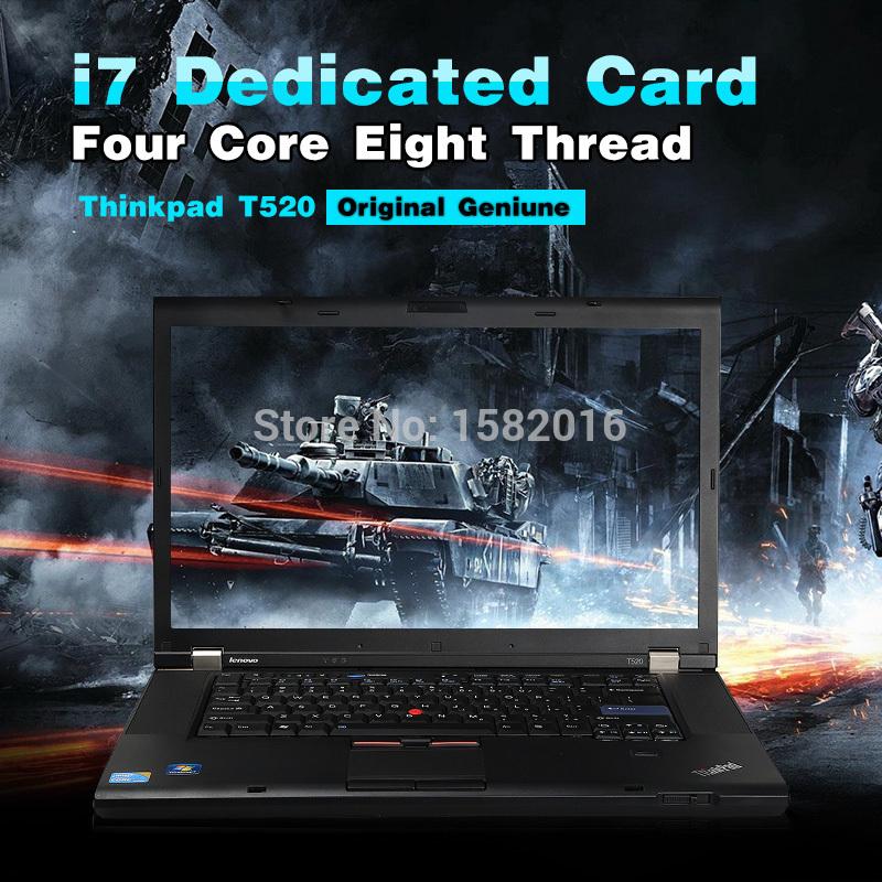99 New Notebook Computer Lenovo Thinkpad T520 Original Quad Core i5 2520M 4GB Memory Business Gaming