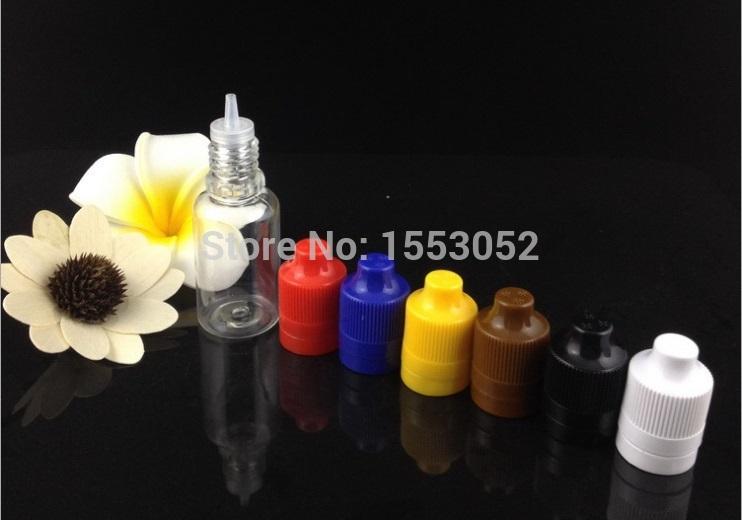 100pcs 15ml PET Plastic Empty ChildProof Dropper Bottles & long thin Tips LDPE E Vapor Cig Liquid(China (Mainland))