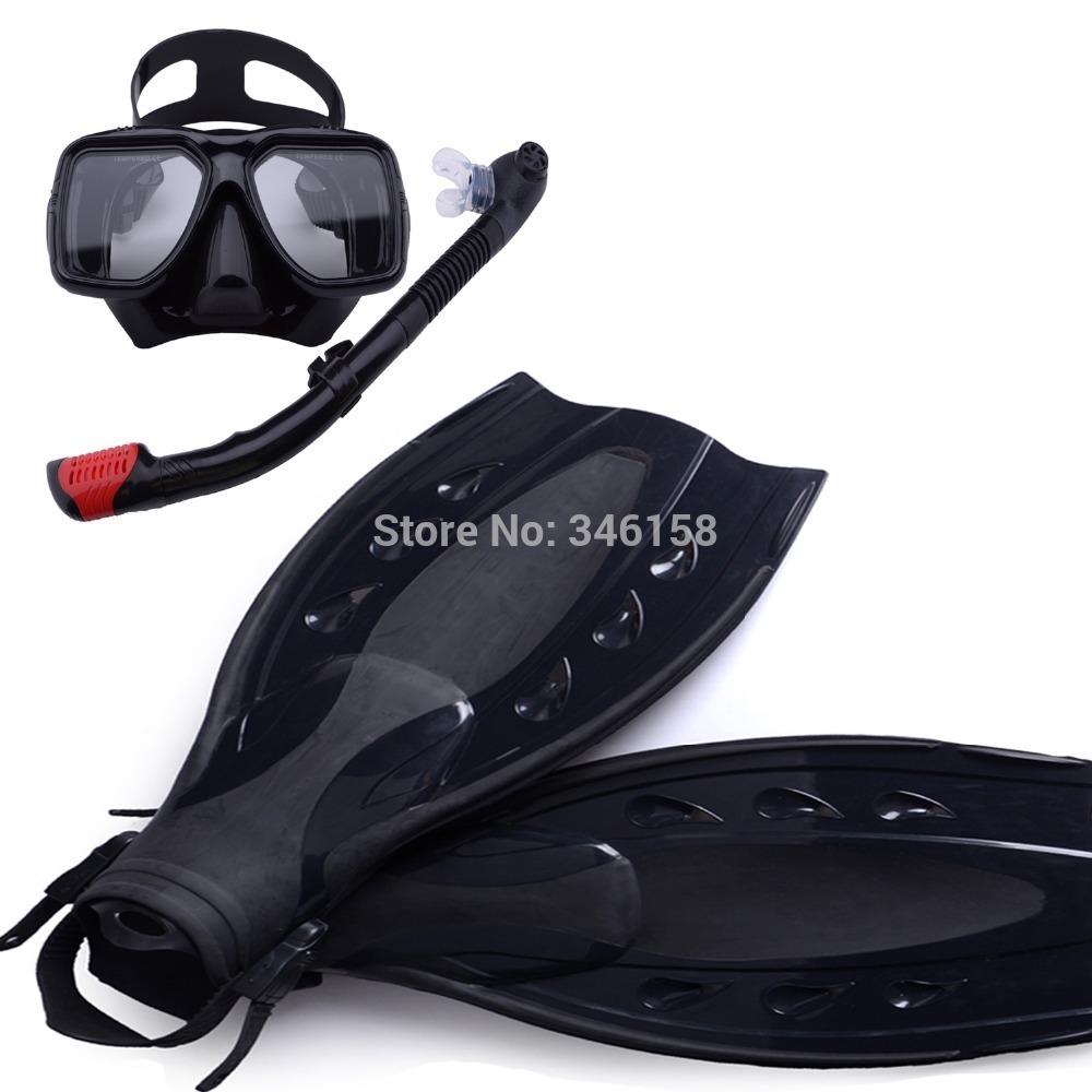 scuba diving equipment 3pcs of set,dive mask and snorkel flipper kit, mask snorkeling,fins underwater swimming kits(China (Mainland))