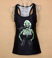 2015 top femme 3D printed marilyn monroe tops women new fashion women brand women tops womens sexy  tops Dropshipping  XY028
