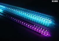 Free shipping SMD 3528 DC12 RGB LED Lamp meteor Light shower Lights 1set 10 Tube 50cm 60LEDs Outdoor Tree Decoration