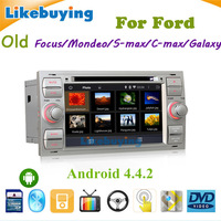 2 DIN Android 4.4.2 Car DVD GPS Player Navigation For old Ford Focus/Mondeo/S-max/C-max/Galaxy with WiFi /free 8G Card and Map