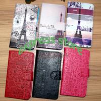 effiel tower wallet for LG G3 stylus magic girl design cartoon leather wallet  for LG G3 stylus D690 D390N free shipping
