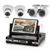 700tvl camera DVR System 4ch Full D1 7inch lcd monitor DVR 2 x Outdoor Cameras 2 x Indoor Cameras