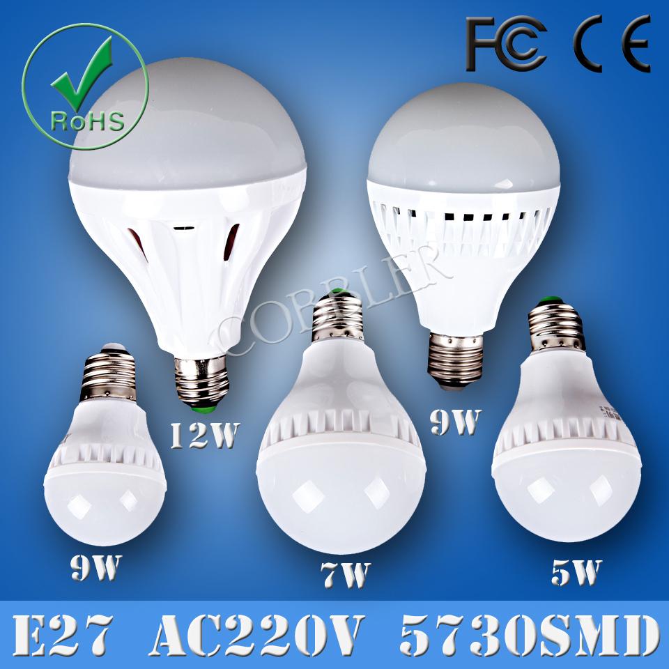 E27 smd5730,3w/5W/7w/9/12w e27 led-blase ball glühbirne, e27 5730 smd led lampe, kerze kronleuchter licht