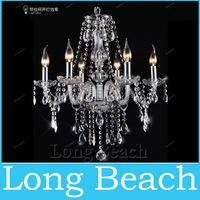 Free Shipping Modern 6 Lights Crystal Chandelier Lighting W550*H600m Glass Chandelier For Living Room