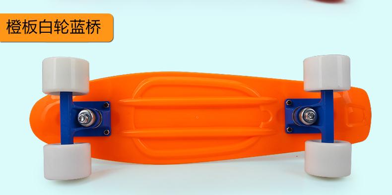 "22"" Penny Style Skateboard girl boy Backpack Skate fish Mini Cruiser longboard Complete + T tool + Penny Bag DIY Color(China (Mainland))"