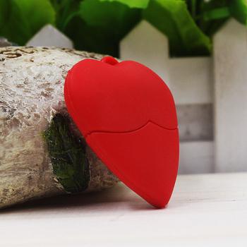 Любители подарок мультфильм прекрасный форме сердца USB Флэш-накопитель 8 г флэш-памяти у диска ручка / пера флэшке / подарок бесплатная доставка