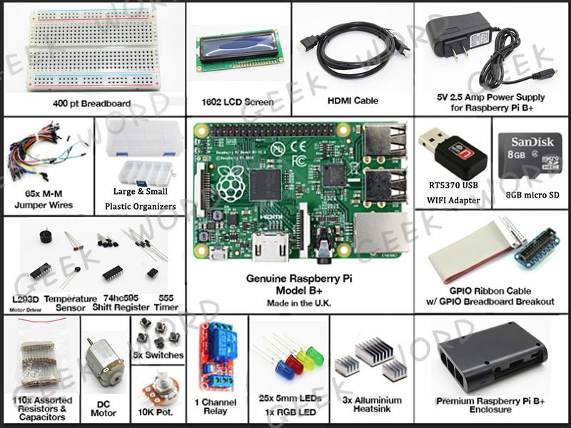 Интегральная микросхема Big tree tech Pi b /1602 LCD/WIFI /8 sd/2.5A Raspberry pi favourite 1602 1f