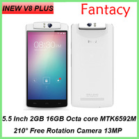 "Original Inew V8 Plus MTK6592M Octa Core Android 4.4 Mobile Phone 5.5"" IPS 2GB RAM 16GB ROM 13.0MP Rotating Camera GPS OTG NFC"