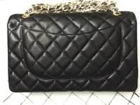 Fashion Classic Flap Genuine Cow leather Brand Bag Black Caviar Leather Quilted Double Flap Bag women's Shoulder Bag CC bag