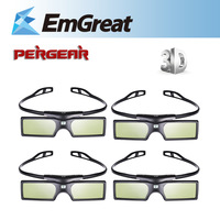 4pcs/lot Bluetooth 3D Active Shutter Glasses Virtual Reality for Samsung LG TV HDTV 3D TV HDTV Blue-ray Player P0016936