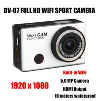 WiFi Spot Camera Full HD 1080P 1920*1080 Action Camera Sport DV WiFi Action DV  Motorcycle Helmet Camera  Video Camera DVR DV-07