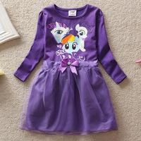 4-8Years My little pony Children Kids Girls Dress New My little pony Dress Girls Dresses summer girls dresses Free shipping