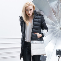 New style 2014 fashion casual woman clothes high quality women warm slim long duck down coat womens winter jackets and coats