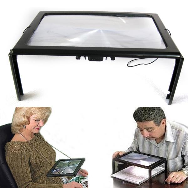 The Elderly A4 Size Desk Type Reading Loupe Lupa