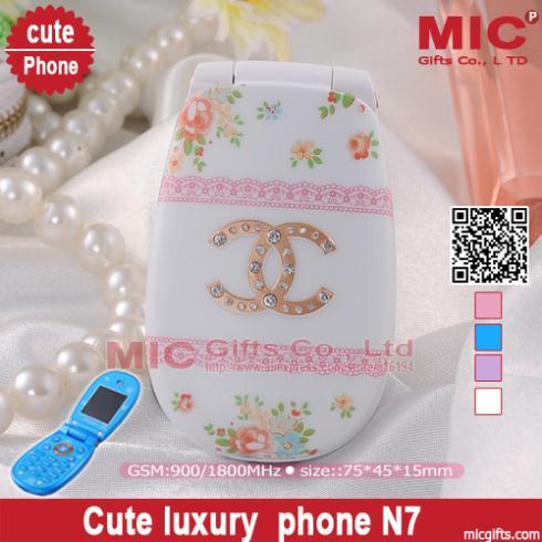 Flip unlocked small cartoon Dual SIM card women kids girls lady cute mini cell mobile phone flower diamond P193(China (Mainland))