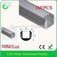 1M/PCS 50M/Lot  LED Bar Light Cabinet LED Rigid Strip DC 12V led aluminium profile