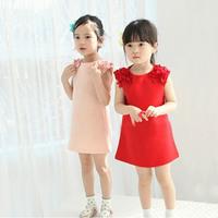Sale Children Girl Dress Summer Pink Red Lace Formal Princess Dress Kids Wear Toddler Wedding Clothing Casual Dresses vestido
