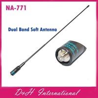 NA-771 SMA-F SMA-Female Dual Band Soft Antenna VHF/UHF 144/430MHz 2.15dB for Baofeng BF-888S BF-UV5RE Plus BF-666S Two Way Radio